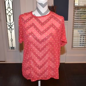 Francesca's Collections Red and Yellow Top